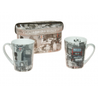 Set 2 tazas de porcelana London