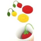 Infusor /tapa de silicona fruta