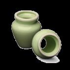 Soporte para Escobillas de Porcelana Verde